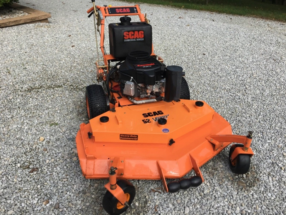 Stand Behind Lawn Mower >> Scag 52 Hydro Zero Turn Walk Behind Commercial Mower With New